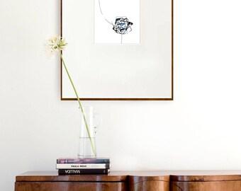 Star I- Print- Astronomy print, star, constellation, nature, minimal digital print, minimalist glicee print, digital art print, large print