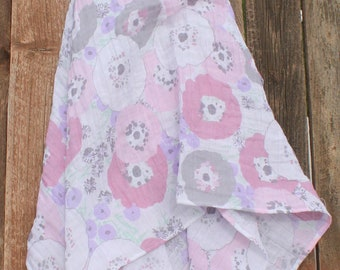 47x47 Fresh Cut Pastel Muslin/Double Gauze Swaddling Blanket