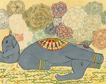 Elephant Yoga, Hatha (i) Yoga, Yoga Art, Janusirsasana, Elephant Art, Forward Bend, forward extension