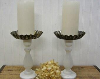Repurposed Rusty Tart Tin Candle Holders Farmhouse Decor