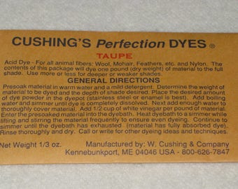Sale! TAUPE Cushing's Perfection Acid Dye...2.00/each