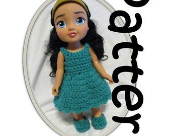 Crochet Pattern: Basic dress for 15 inch Toddler Dolls 18