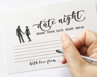 Date night advice cards 10 Pack date night ideas for engagement party bridal shower bachelorette party bridal shower games hen party wedding