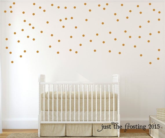 Gold Wall Decals Polka Dots Wall Decor Confetti Polka Dot - Wall decals polka dots