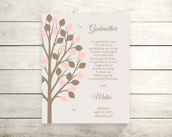 Godmother Gift From Godchild | Godparents Poem | Godparents Gift | Christening | Baptism Gift For Godparents - 43977