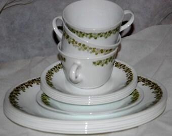 Corelle Spring Blossom - Green (Crazy Daisy) Dishware Set