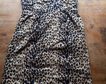 SMALL 90s Abfab Patsy Stone hot grandma leopard print tube dress