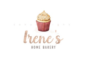 Bakery logo | Watercolor Logo | Cake logo | Home bakery Logo | Cute Logo | Business Logo | Shop Logo | Cupcake Logo