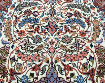 Persisn Tabriz Pictorial Rug Fine Knotted 4.5'x 7.2'