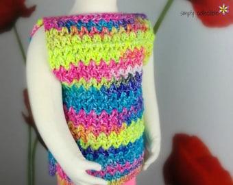 Crochet Girls Sweater pattern, Girls Easy Peasy Top - Sizes 6m, 9m, 12m. 2T, 3T, 4T, 5T, 6, 7, 8, 9, 10, 12, 14 girls top