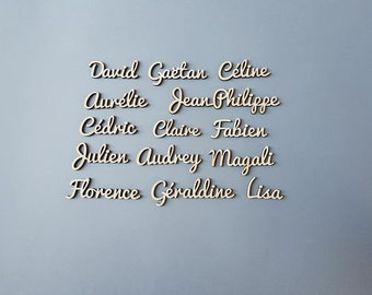 Laser cut chipboard. Your name...