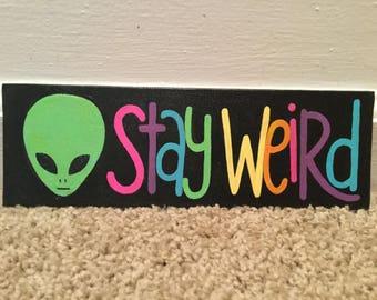 Rainbow Alien Painting