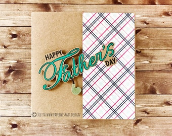 Father's day card - elegant and simple handmade designer card for Father's Day - classy card for Dad