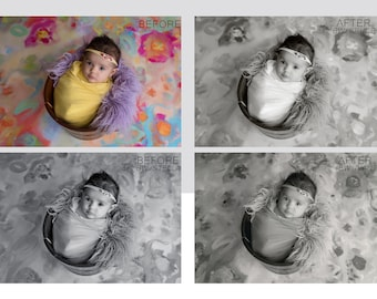 Newborn Photoshop Actions Black and White