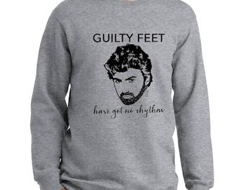 George Michael sweatshirt fleece crew neck Careless Whisper Wham guilty feet