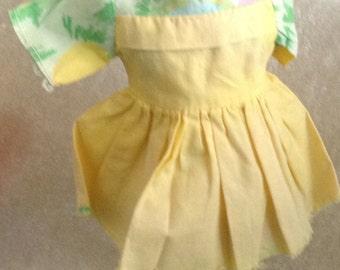 Vintage Yellow Doll Dress SALE Look