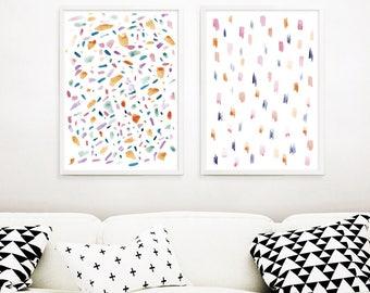 Wall Art Set of 2,Kids Room Art,Abstract Prints Set of 2,  Nursery Wall Art,Neutral Nursery Prints,Printable Wall Art, Modern Nursery Art
