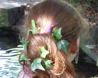 Ivy Bobby Pins/Fairy Wedding/Hand-fasting/Ivy Fairy/Hair pins