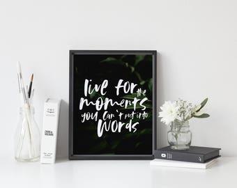 Botanical print, tropical bedroom decor, tropical printable wall art, tropical art poster, wall prints, instant download, wall art printable