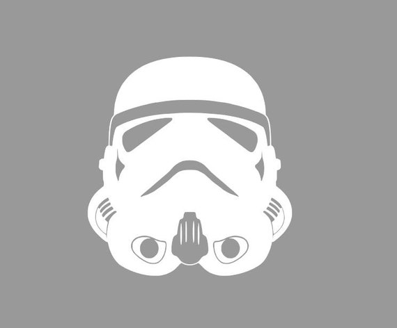 Star wars storm trooper casque pochoir vinyl - Pochoir star wars ...