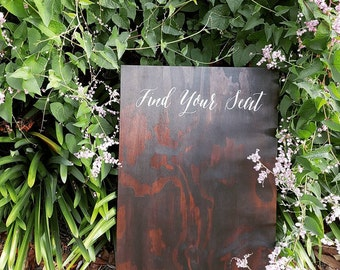 Find Your Seat Sign, Wedding Seating Chart, Wedding Guest Seating Plan