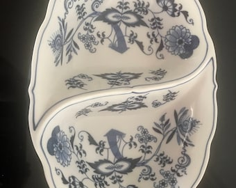 Blue Danube 11 Inch OVAL 2 Part DIVIDED Serving BOWL