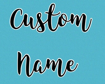 Custom Name  ~ Please add this listing for a custom name on your hooded towel