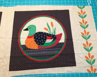 Calico Duck Panel - Vintage 80's Fabric