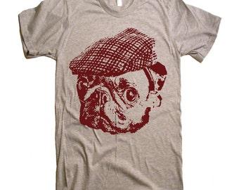 Pug Hooligan T Shirt - Cute Pug Face - Womens Graphic Tees - Kids Tshirt - Mens Tshirt - Animal Dog Lover Gift Gifts For Him Her
