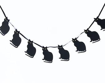 Black Cats Garland | Black Cats Banner  | Halloween Garland | Halloween Banner | Halloween Decor | Halloween Decoration
