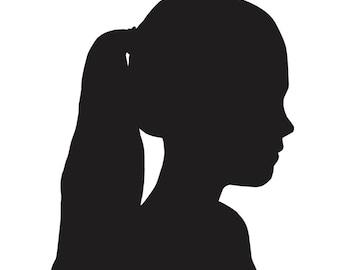custom silhouette portrait art
