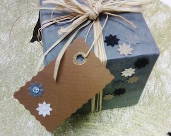 Six made handmade gift tags