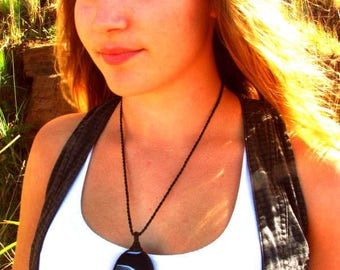 Sardonyx  Necklace / Sardonyx jewelry / for mom , Macrame / Healing Stones and crystals / Stone jewelry / wrapped pendant
