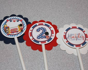 London Cupcake Toppers / London Birthday / England Cupcake Toppers / England Birthday / London Party / British Cupcake Toppers/British Party