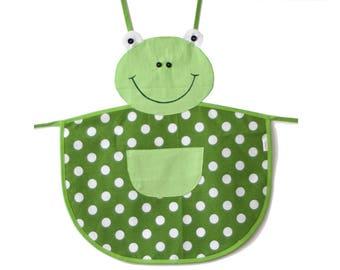 Child apron Green Frog - Miki Madlen