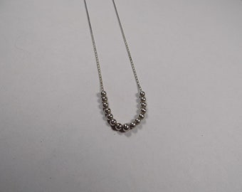 Beautiful sterling silver 16 inch necklace with beads