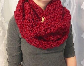 Crochet infinity scarf, Crochet cowl, Chunky cowl, Cowl neck scarf