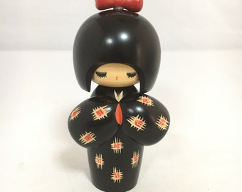 Japan Kokeshi Doll, Vintage Kokeshi Doll, Wooden Doll, Japanese Doll, Antique Kokeshi Doll, Antique Doll, Vintage Japanese Doll, Asian Decor