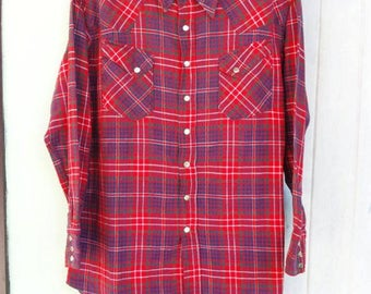 Vintage 50's WRANGLER Blue Bell Western Shirt Sanforized.