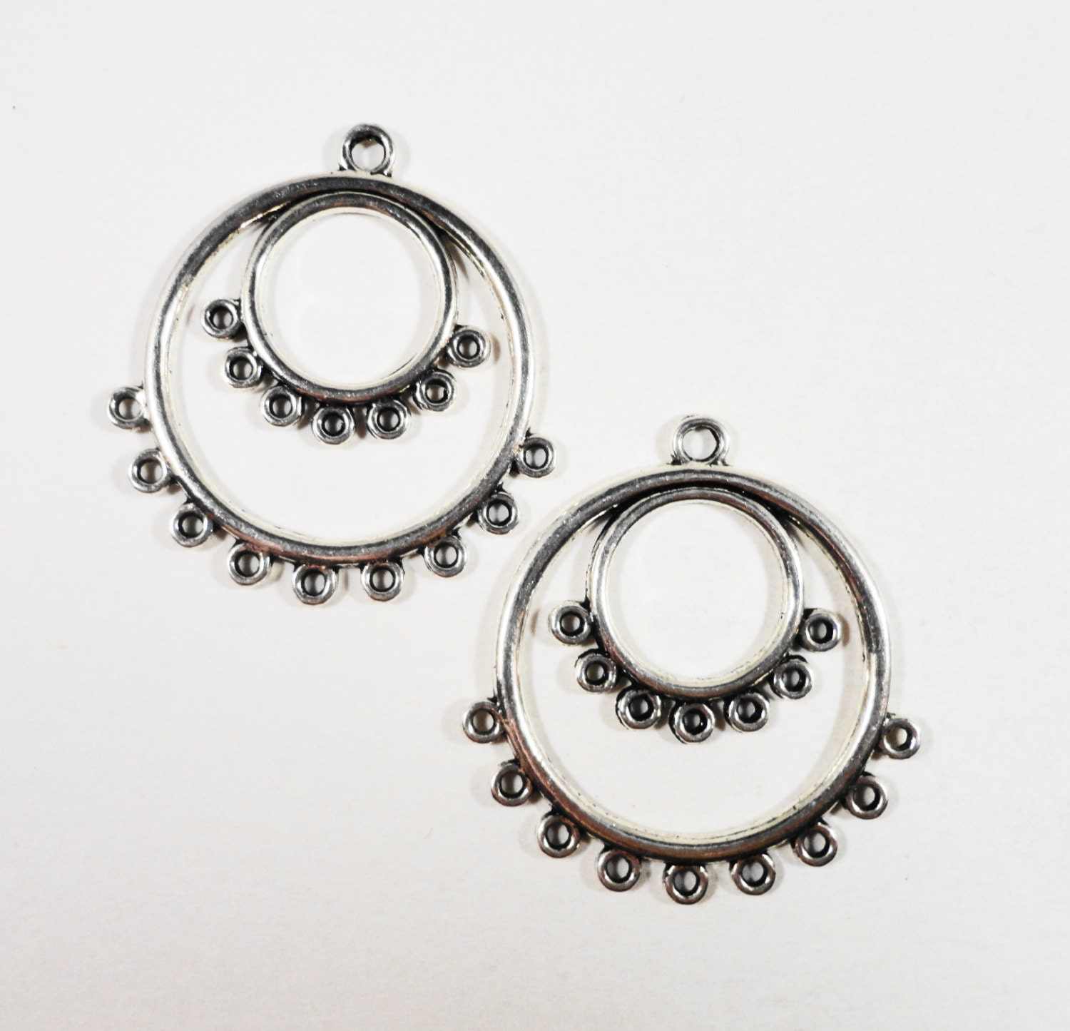 Hoop earring connectors 36x34mm antique silver chandelier earring hoop earring connectors 36x34mm antique silver chandelier earring findings connector findings connector pendants jewelry findings 4pcs arubaitofo Image collections