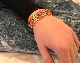 floral bracelet 1960s