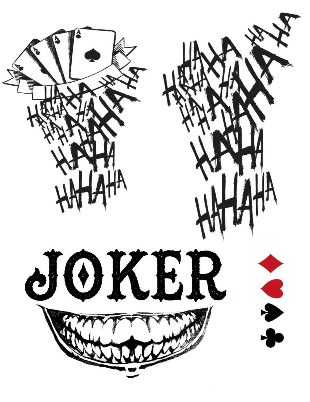 Joker Ha Ha Ha Tattoo: Suicide Squad Jared Leto Joker Halloween Costume Jared Leto