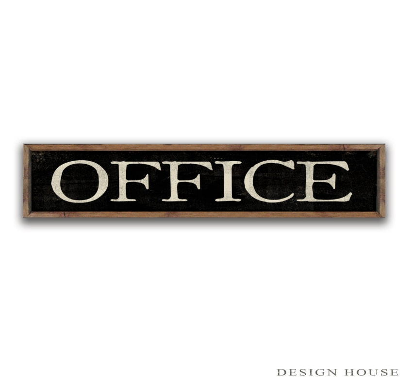 Wooden Office Sign 36x8x2 Office Decor