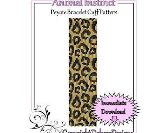 Bead Pattern Double Peyote(Bracelet Cuff)-Animal Instinct