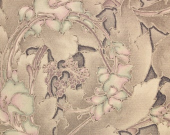 1920s Antique Vintage Wallpaper Art Deco Purple Violet Flowers by the Yard