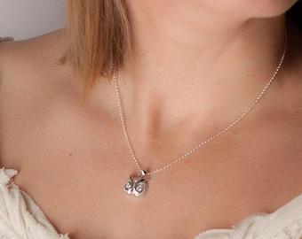 diamond owl necklace, silver owl head necklace, cz owl necklace, sparkly owl head pendant, unique owl pendant, silver owl necklace