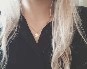 Rose Gold Clover Necklace   Dainty Clover Necklace   Clover Necklace   Rose Gold Necklace   Four Leaf Clover Necklace   Clover   Lucky  