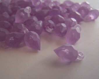 FREE SHIPPING - 30 pcs. Frosted Faceted Drop Acrylic Beads (#1330-2)