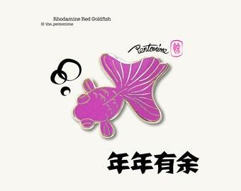 Rhodamine Red Goldfish Pin
