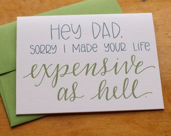 Dad Expensive Card